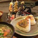 高森田楽の里 - 料理写真:田楽焼きおにぎり定食