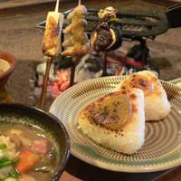 高森田楽の里 - 田楽焼きおにぎり定食