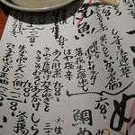 めしの助 - 1809メニュー