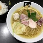 超純水採麺 天国屋 - 2018/9/17限定・焙煎ウルメ太刀魚煮干麺 ご飯付(1000円)
