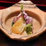 喰善 あべ - 石垣貝、明石甘鯛のお造り