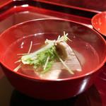 喰善 あべ - ブータン松茸、くじ、冬瓜煮物椀