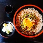佐久の草笛 - 料理写真:山菜ざる蕎麦