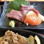 海鮮れすとらん 魚輝水産 JR平野駅前店 - マグロ・ハマチ・サーモン・北寄貝♪