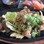 海鮮れすとらん 魚輝水産 JR平野駅前店 - 牛タン・豚の生姜焼き♪