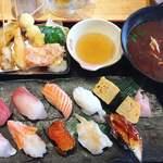 海鮮れすとらん 魚輝水産 JR平野駅前店 - 上串天ランチ♡¥1380