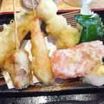 海鮮れすとらん 魚輝水産 JR平野駅前店 - 茄子・豚肉・海老・うずら・大葉・生姜♡