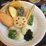 千舟屋 - 料理写真:野菜天うどん