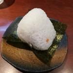 楓 - ランチおにぎり。+100円。ごはん美味しい。