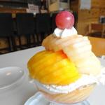 310 IWANUMA-BASE - 桃のパフェ アップ