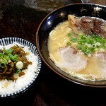 博多とんこつラーメン わ蔵  - [昼定高菜ご飯セット780円]+一口餃子350円!
