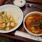 唐朝刀削麺 - 西安・麺セット 1430円 こちらマーラー麺。