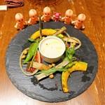 92899160 - 彩り野菜のバーニャカウダ ¥1,080