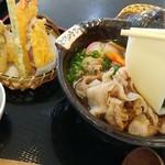 お食事処 花やま - 料理写真:鬼ひも川~季節の天ぷらセット~ 1630円
