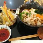 お食事処 花やま - 鬼ひも川~季節の天ぷらセット~ 1630円