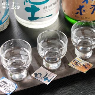 店長厳選、日替わりの日本酒!飲み比べセット780円◎