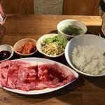和牛焼肉 海 - サーロインステーキランチ 1500円
