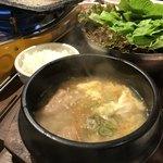 李朝園 - サムギョプサル定食Set5(マンドゥクッ+ライス)¥1,080+税②