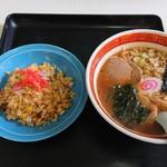 東京食堂 - ラーメンセット(ラーメン & 半チャーハン)