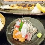蝦夷雷鳥 - 新さんまと刺身の定食     ¥980