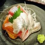蝦夷雷鳥 - 定食のお刺身