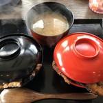 炭焼ぶた丼 真打 - ♪W丼ぶた丼(並)¥1050 open前