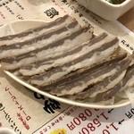 大衆酒場肉のオカヤマ - 牛さいぼし380円(税別)