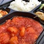 上海豫園 - テイクアウト エビチリソースお弁当 ¥880 + ご飯大盛り ¥50