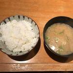 92910985 - 白ご飯とお味噌汁