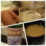 寿司の美登利総本店 - 赤霧ロックと赤ワインで乾杯♪