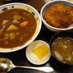 92912202 - (2018/7月)ミニカレーラーメン&ミニタレカツ丼セット