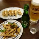 大衆食堂正広 - (2018/7月)メンマ炒め、餃子