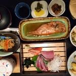 お食事処日本海 - 日本海膳(上下逆さですみません)
