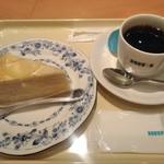 ドトールコーヒーショップ - [料理] ケーキセット (レモンミルクレープ & Hot珈琲)