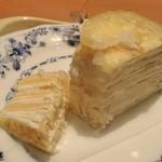 ドトールコーヒーショップ - [料理] レモンミルクレープ 切り口のアップ♪w