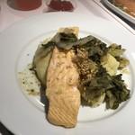 IKEAレストラン - サーモンフィレ