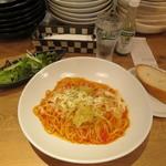 自家製生パスタ専門店木本屋 - ロールキャベツのトマト煮込みパスタ ~とろけるチーズがけ~ 900円(大盛無料)
