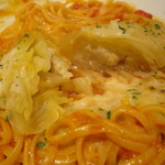 自家製生パスタ専門店木本屋 - ロールキャベツのトマト煮込みパスタ ~とろけるチーズがけ~ (大盛)