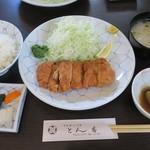 とん香 - ・「ヒレかつ定食(\1728)」