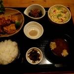 まんま - 料理写真:カラアゲ定食(塩) 1000円
