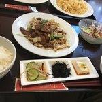 福隆 - 料理写真:ランパスでのレバニラ定食