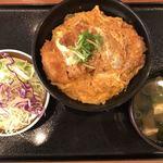 92927436 - 【2018.9.14】かつ丼490円+サラダセット120円