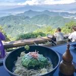 かつらぎ茶寮 - 富士山冷やしそばを富士山を見ながら