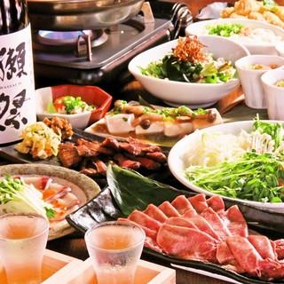 職人が作る和食をベースに名物鍋が楽しめる宴会コース