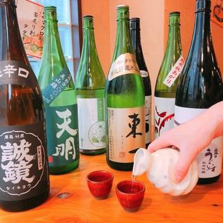 【日本酒・焼酎】博多料理によく合う銘柄をご用意!飲み放題も◎