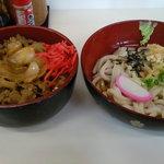牛平 - 料理写真:牛丼セット(冷やしうどん)