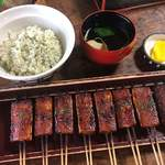 松野屋 - 料理写真:定食 1,150円 でんがく、菜めし、吸物、香の物