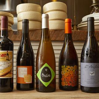 自然派ワインは3種類の価格からお選びいただけます♪