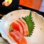 レストラン四季 - 信州サーモンのお刺身