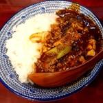 """自家製麺 魚担々麺・陳麻婆豆腐 """"dan dan noodles"""" - 陳麻婆飯♪(半飯)"""
